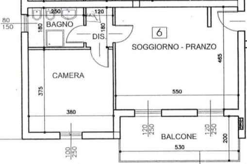 Planimetria casa 50 mq for Appartamento 50